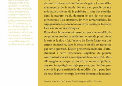 Beautés, D'après modèle, Denis Laget & pratiques contemporaines, Lienart (4e de couverture)