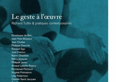 Beautés, Le Geste à l'œuvre, Richard Tuttle & pratiques contemporaines, Lienart (couverture)