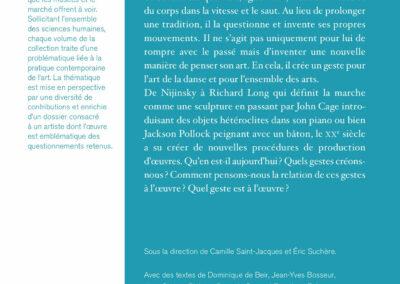 Beautés, Le Geste à l'œuvre, Richard Tuttle & pratiques contemporaines, Lienart (4e de couverture)