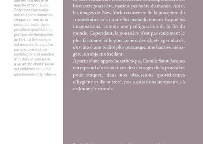 Beautés, Camille Saint-Jacques, Esthétique de la poussière, une entrée en matière, Lienart (4e de couverture)