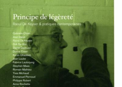 Beautés, Principe de légèreté, Raoul de Keyser & pratiques contemporaines, Lienart (couverture)
