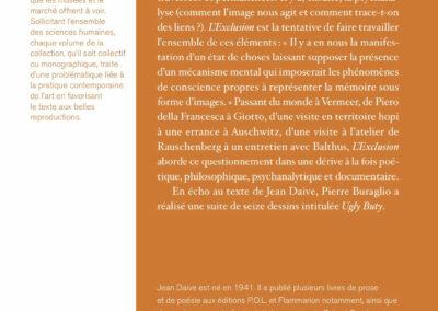 Beautés, Jean Daive, L'Exclusion, Galerie Jean Fournier (4e de couverture)