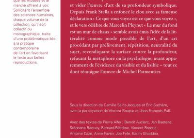 Beautés, Une rose est une rose, Michel Parmentier & pratiques contemporaines, Galerie Jean Fournier / FRAC Auvergne (4e de couverture)
