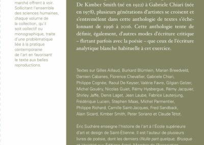 Beautés, Éric Suchère, Motifs et partis pris, Galerie Jean Fournier / FRAC Auvergne (4e de couverture)