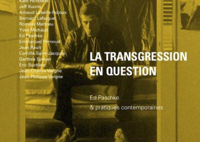 Beautés, La Transgression en question, Ed Paschke & pratiques contemporaines, Galerie Jean Fournier / FRAC Auvergne (couverture)
