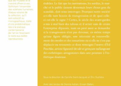 Beautés, La Transgression en question, Ed Paschke & pratiques contemporaines, Galerie Jean Fournier / FRAC Auvergne (4e de couverture)