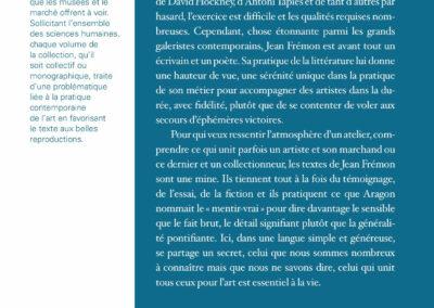 Beautés, Jean Frémon, L'Écriture des formes, Galerie Jean Fournier / FRAC Auvergne (4e de couverture)