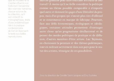 Beautés, Le Motif politique, Luc Tuymans & pratiques contemporaines, Galerie Jean Fournier / FRAC Auvergne (4e de couverture)
