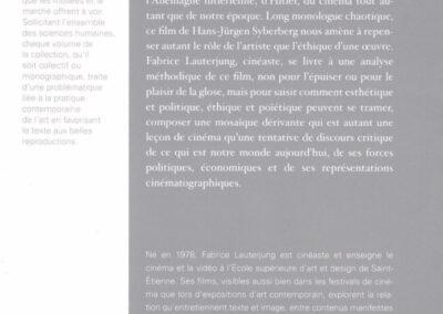 Beautés, Fabrice Lauterjung, Exercices d'exorcismes, Galerie Jean Fournier / FRAC Auvergne (4e de couverture)