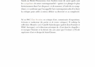 Éric Suchère, Symptômes, L'Atelier contemporain (4e de couverture)