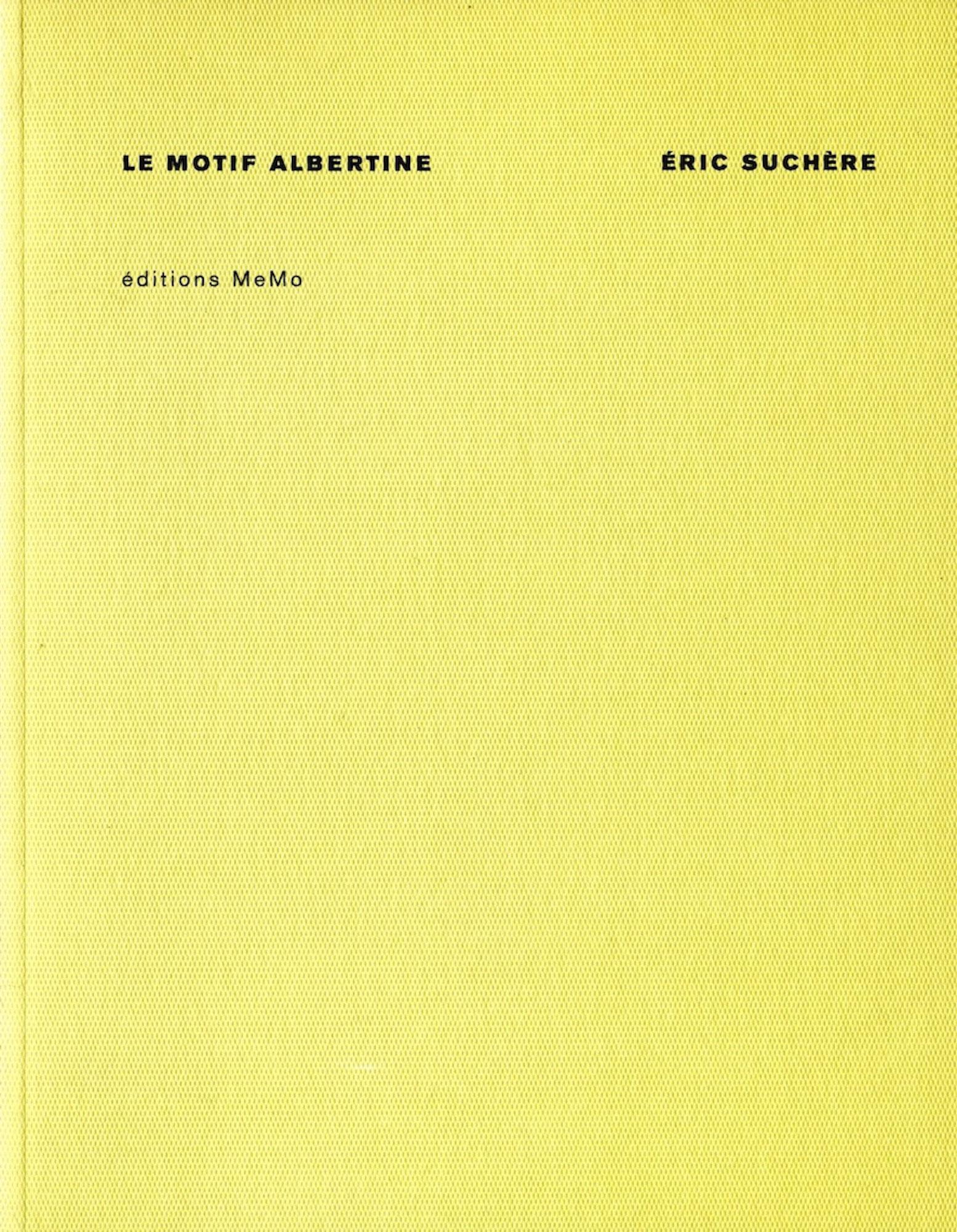 Éric Suchère, Le Motif albertine, MeMo (couverture)