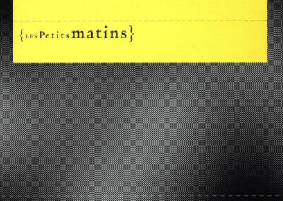 Éric Suchère, Fixe, désole en hiver, Les Petits Matins (couverture)