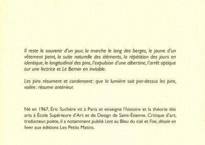 Éric Suchère, Résume antérieur, Le Mot et le reste (4e de couverture)