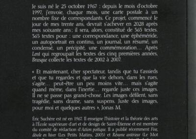 Éric Suchère, Brusque, Argol (4e de couverture)