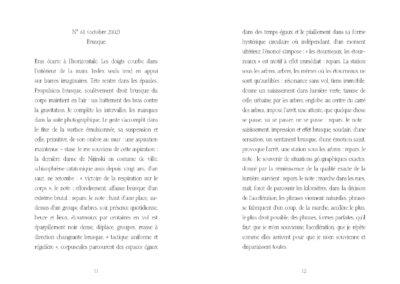 Éric Suchère, Brusque, Argol (p. 12-13)