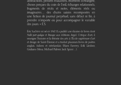 Éric Suchère, Variable, Argol (4e de couverture)
