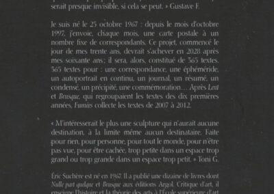 Éric Suchère, Fumées, Argol (couverture)