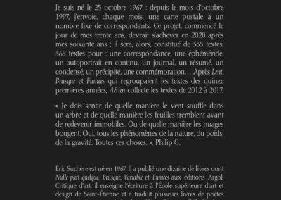 Éric Suchère, Aérien, Argol (4e de couverture)