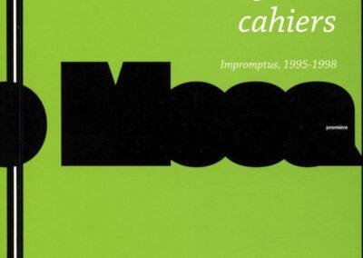 Giuliano Mesa, Quatre cahiers, Impromptus, 1995-1998, Biennale Internationale des Poètes en Val-de-Marne (couverture)