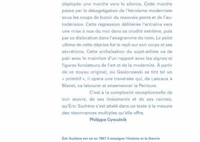 Éric Suchère, Gasiorowski – Peinture – Fiction, Le 19 / Frac Auvergne (4e de couverture)