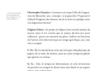 Collectif, L'imagination est un lieu où il pleut, Gilgian Gelzer & pratiques contemporaines (p. 109)