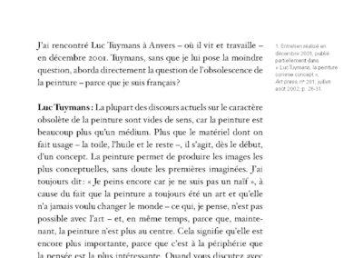 Collectif, Le Motif politique, Luc Tuymans & pratiques contemporaines (p. 157)