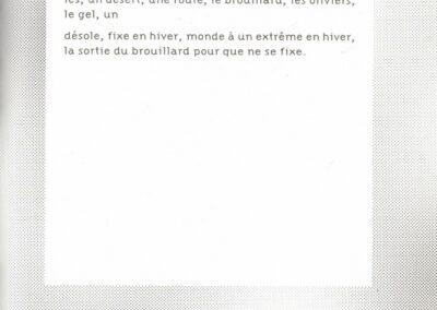 Éric Suchère, Fixe, désole en hiver (p. 67)