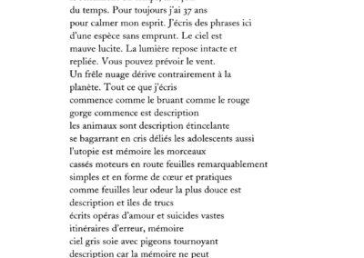 Lisa Robertson, Le Temps (p. 28)
